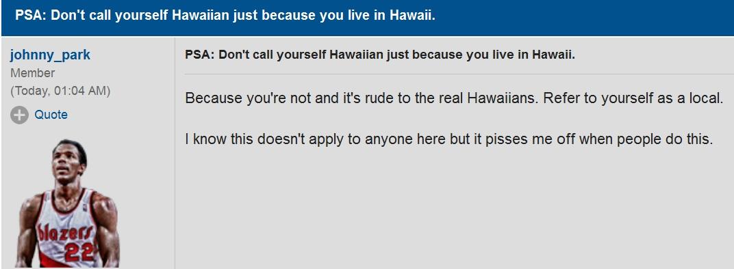 not hawaiian